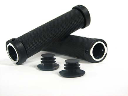 BLK FILE LOCK-ON MTB GRIP
