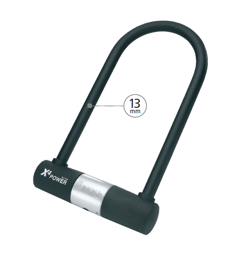 Magnum U Lock 13mm 115mm x 292mm W/Bracket