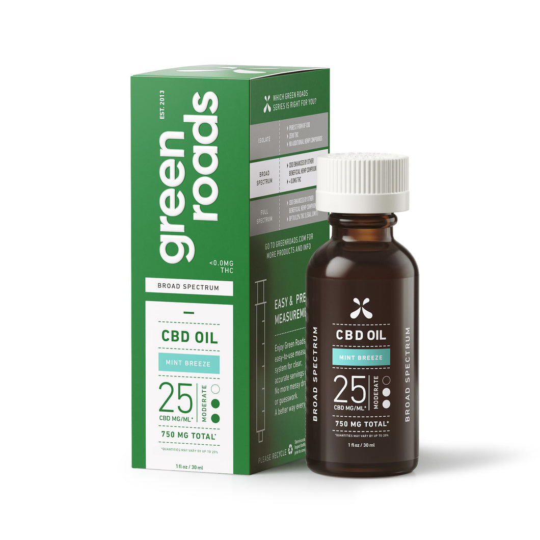 Green Roads - CBD Oil Mint Breeze 750mg