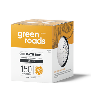 Green Roads - CBD Bath Bomb Orange Lavender & Lemon Uplift 150mg