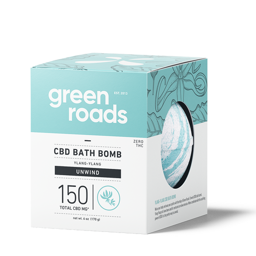 Green Roads - CBD Bath Bomb Ylang Ylang Unwind 150mg