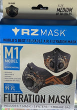 Load image into Gallery viewer, RZ Mask - Air Filtration Reusable Mask M1 Orange