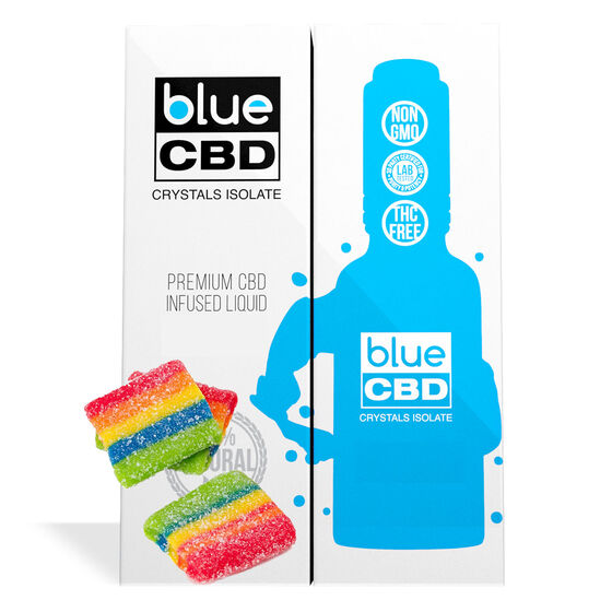 Blue CBD - Tincture Crystal Isolate Oil Melon Berry Gummy Flavor 30ml