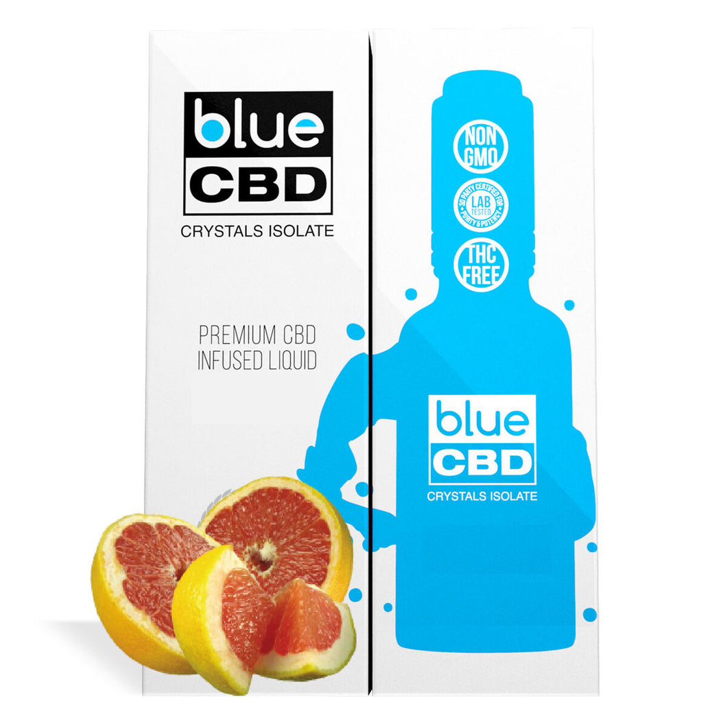 Blue CBD - Tincture Crystal Isolate Oil Ruby Grape Fruit Flavor 30ml