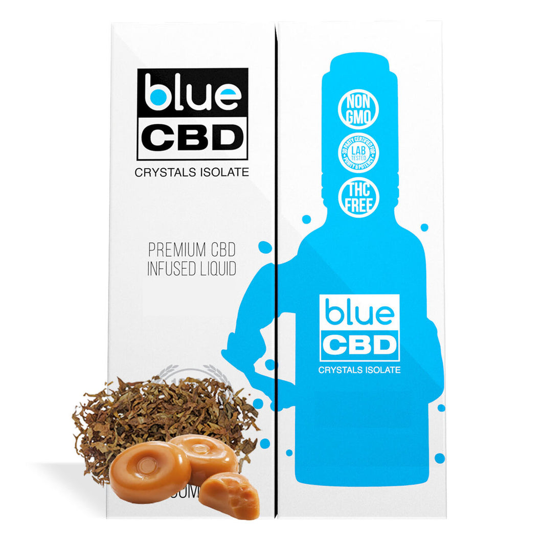 Blue CBD - Tincture Crystal Isolate Oil Tobacco Caramel Flavor 30ml