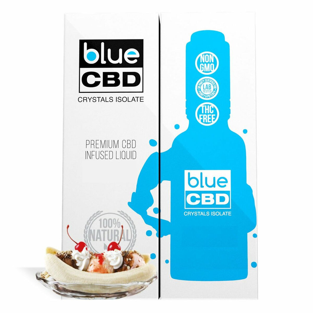 Blue CBD - Tincture Crystal Isolate Oil Banana Split Flavor 30ml
