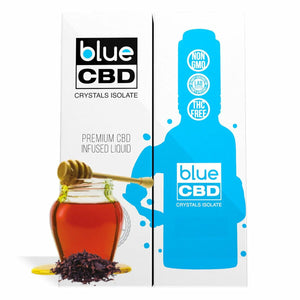 Blue CBD - Tincture Crystal Isolate Oil Black Honey Tobacco Flavor 30ml