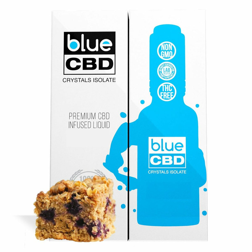 Blue CBD - Tincture Crystal Isolate Oil Blueberry Cinnamon Crumble Flavor 30ml