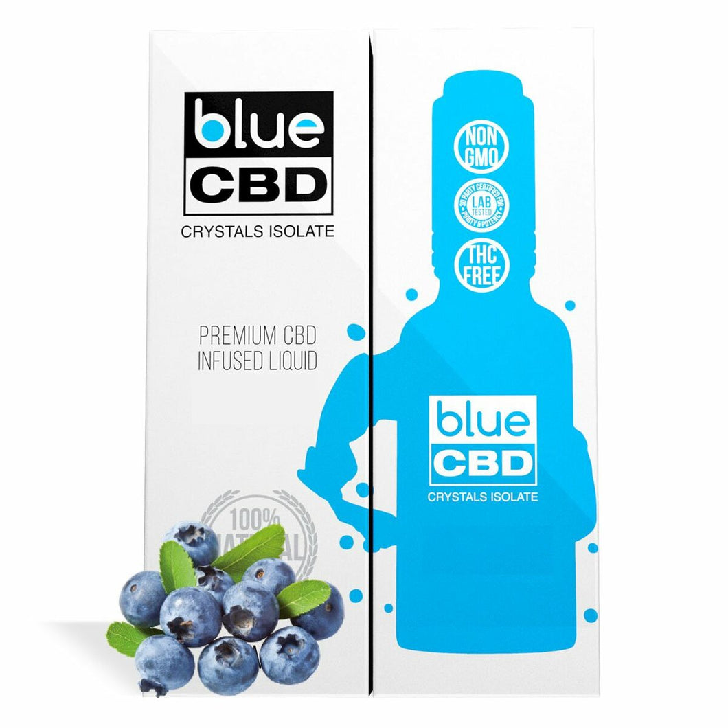 Blue CBD - Tincture Crystal Isolate Oil Blueberry Flavor 30ml