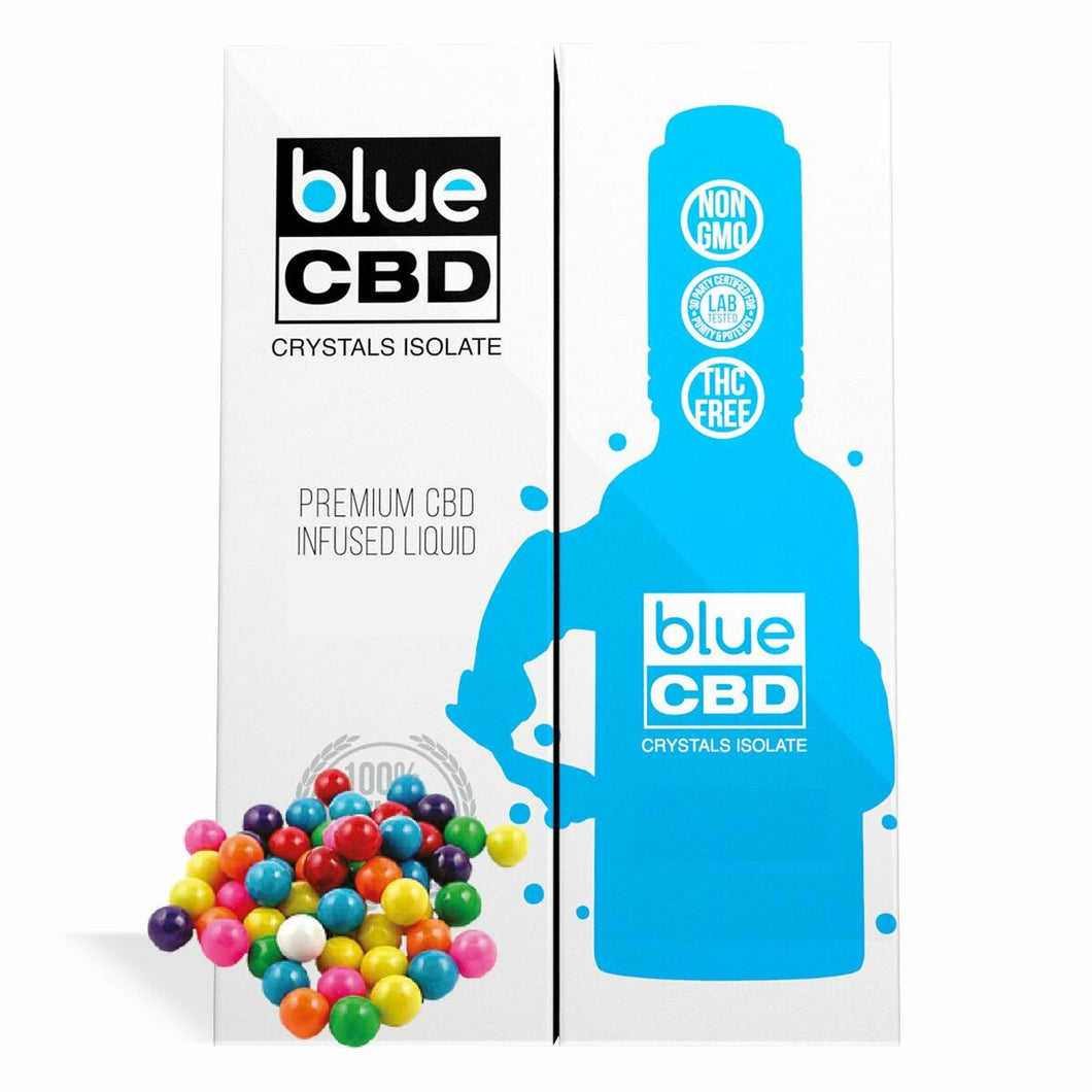 Blue CBD - Tincture Crystal Isolate Oil Bubblegum Flavor 30ml
