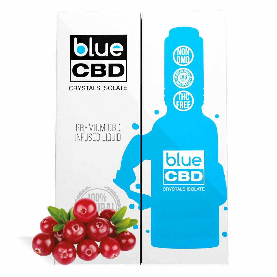Blue CBD - Tincture Crystal Isolate Oil Cranberry Flavor 30ml