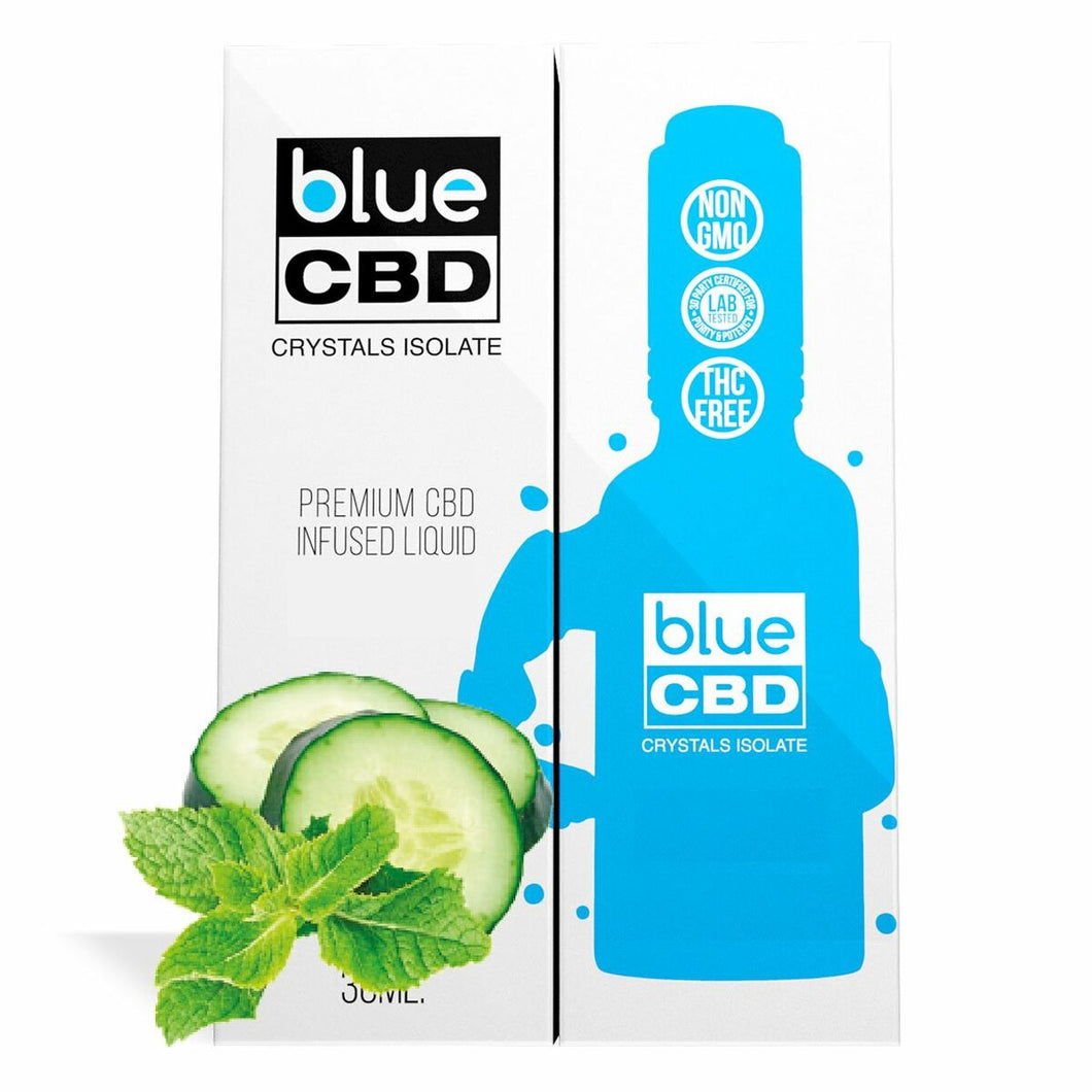 Blue CBD - Tincture Crystal Isolate Oil Cucumber Mint Flavor 30ml