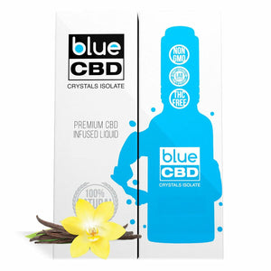 Blue CBD - Tincture Crystal Isolate Oil French Vanilla Flavor 30ml