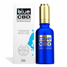Load image into Gallery viewer, Blue CBD - Tincture Crystal Isolate Oil Rainbow Stripes Flavor 30ml