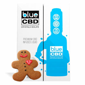 Blue CBD - Tincture Crystal Isolate Oil Gingerbread Flavor 30ml