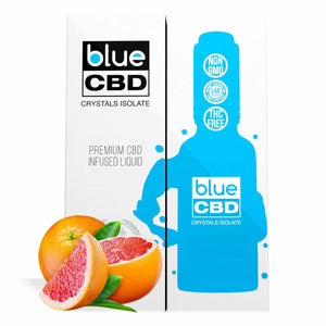 Blue CBD - Tincture Crystal Isolate Oil Grapefruit Flavor 30ml