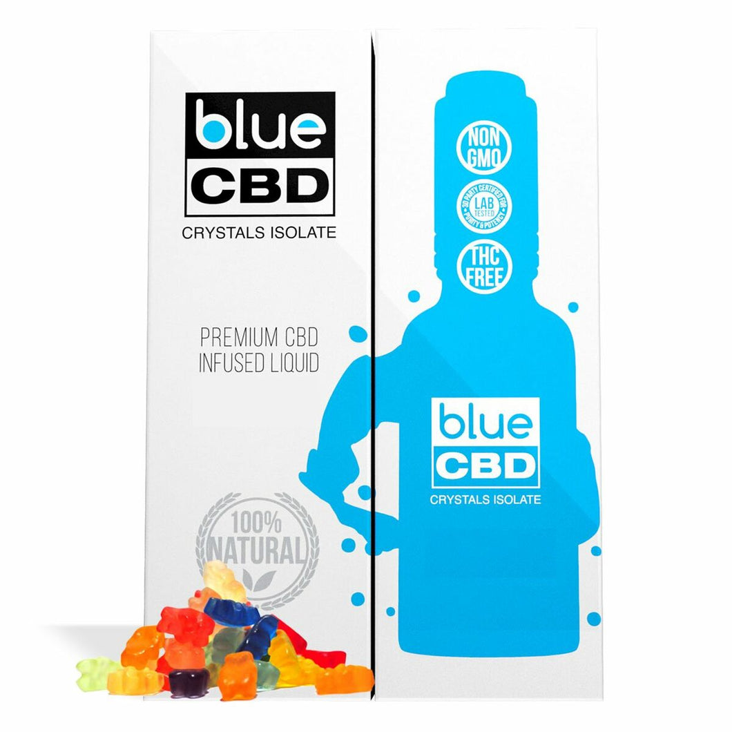Blue CBD - Tincture Crystal Isolate Oil Gummy Bear Flavor 30ml