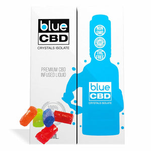 Blue CBD - Tincture Crystal Isolate Oil Hard Candy Flavor 30ml
