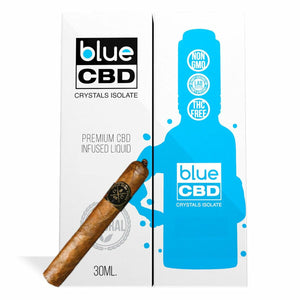 Blue CBD - Tincture Crystal Isolate Oil Havana Tobacco Flavor 30ml