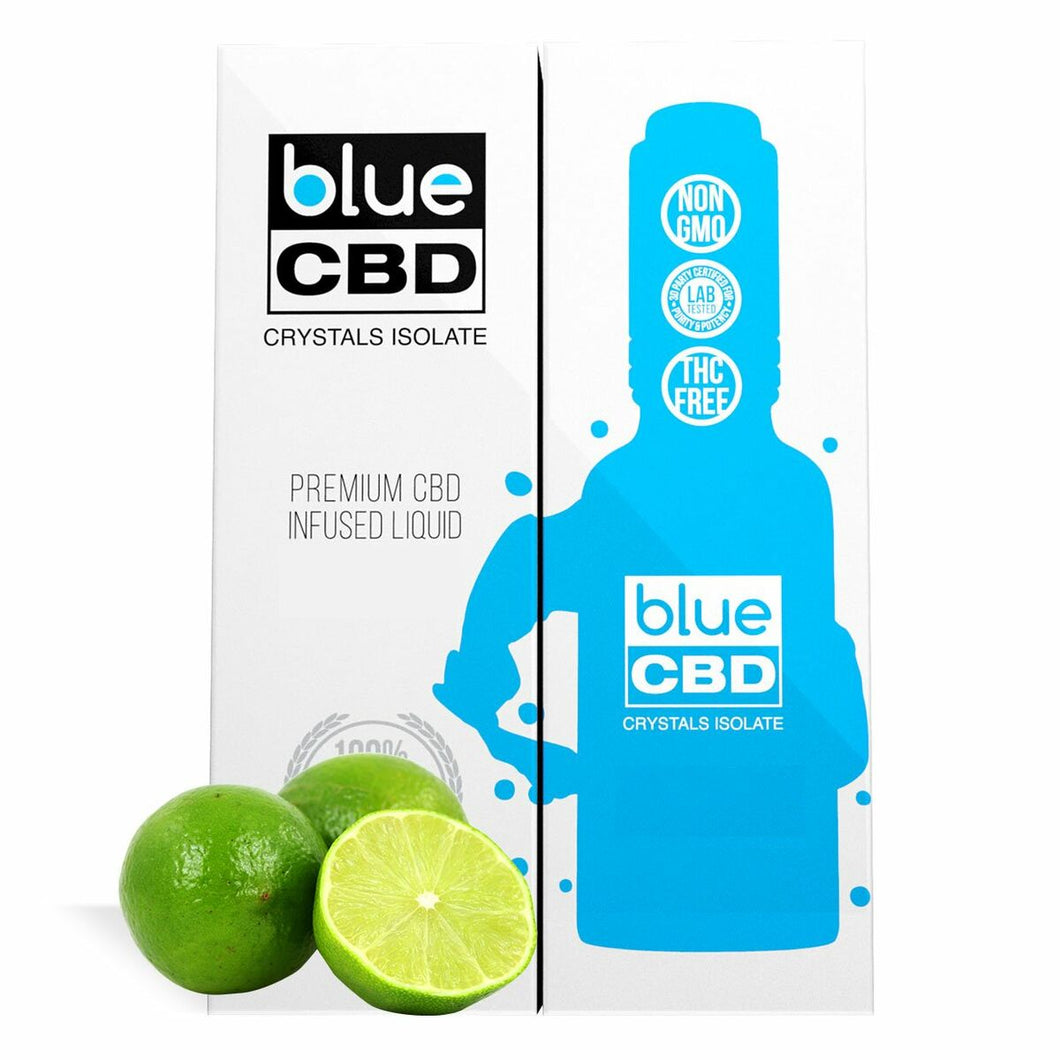 Blue CBD - Tincture Crystal Isolate Oil Lime Flavor 30ml