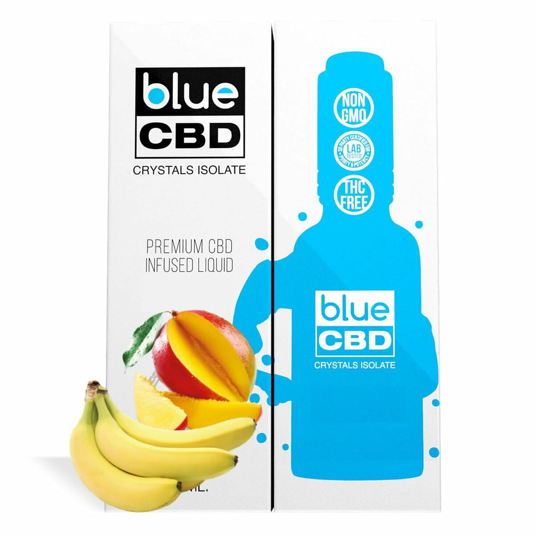 Blue CBD - Tincture Crystal Isolate Oil Mango Banana Flavor 30ml