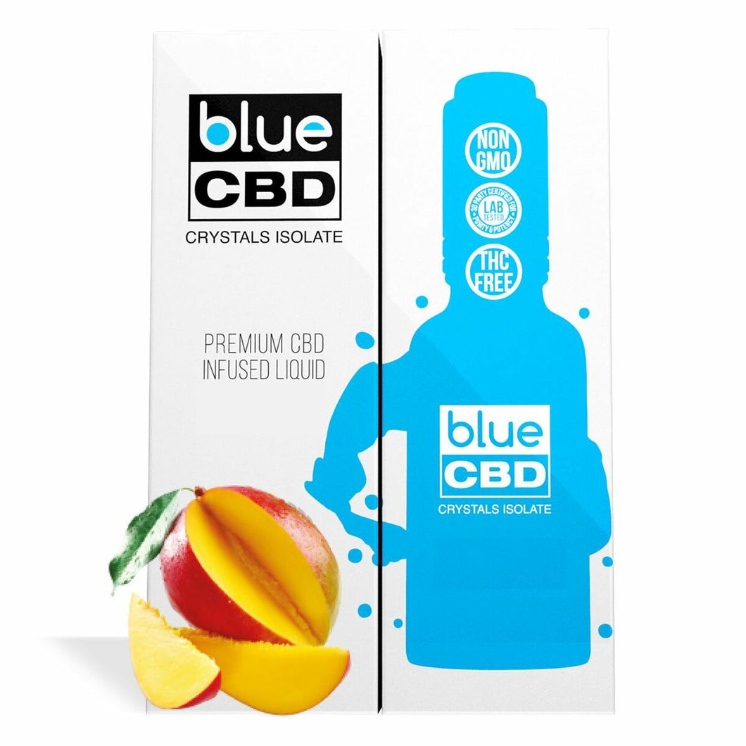 Blue CBD - Tincture Crystal Isolate Oil Mango Flavor 30ml