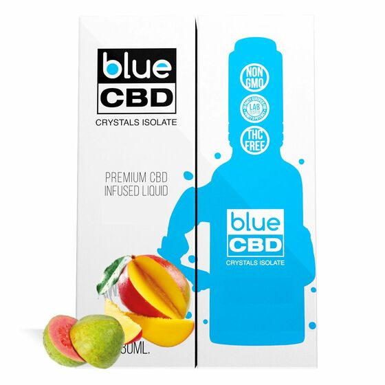 Blue CBD - Tincture Crystal Isolate Oil Mango and Guava Flavor 30ml