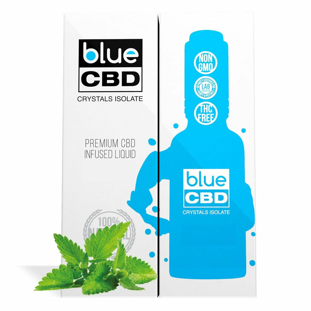 Blue CBD - Tincture Crystal Isolate Oil Menthol Flavor 30ml