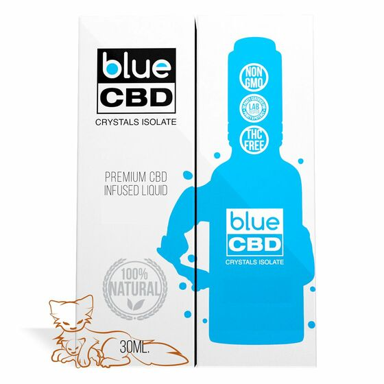 Blue CBD - Tincture Crystal Isolate Oil Mother's Milk Flavor 30ml