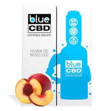 Load image into Gallery viewer, Blue CBD - Tincture Crystal Isolate Oil Nectarine Flavor 30ml