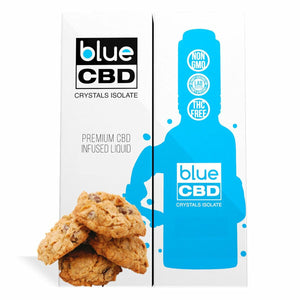 Blue CBD - Tincture Crystal Isolate Oil Oatmeal Cookies Flavor 30ml