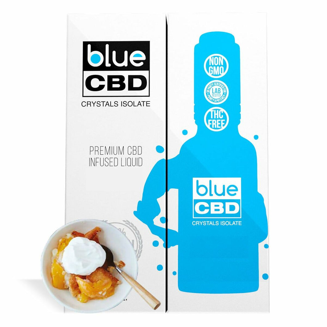 Blue CBD - Tincture Crystal Isolate Oil Peach Cobbler Flavor 30ml