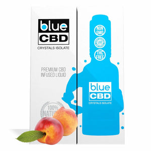 Blue CBD - Tincture Crystal Isolate Oil Peach Flavor 30ml