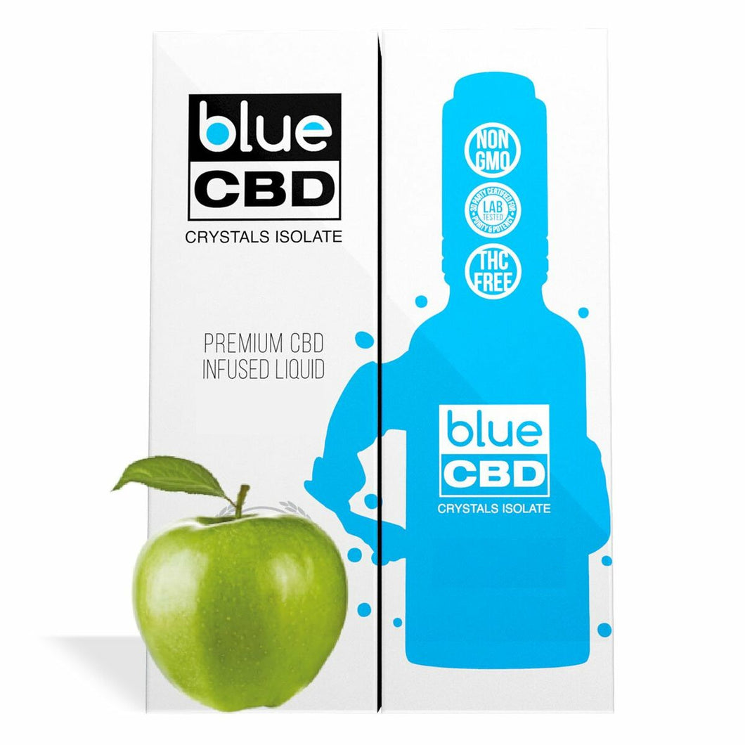 Blue CBD - Tincture Crystal Isolate Oil Green Apple Flavor 30ml