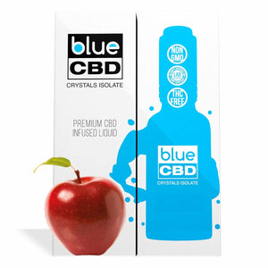 Blue CBD - Tincture Crystal Isolate Oil Red Apple Flavor 30ml