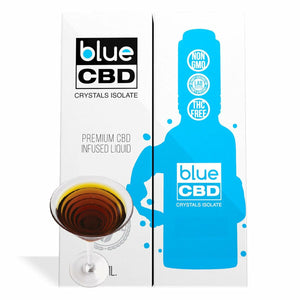 Blue CBD - Tincture Crystal Isolate Oil Spanish Brandy Flavor 30ml