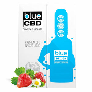 Blue CBD - Tinctures Crystal Isolate Oil Strawberry Flavor 30ml