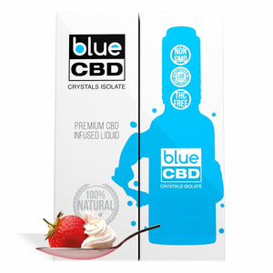 Blue CBD - Tincture Crystal Isolate Oil Strawberry and Cream Flavor 30ml