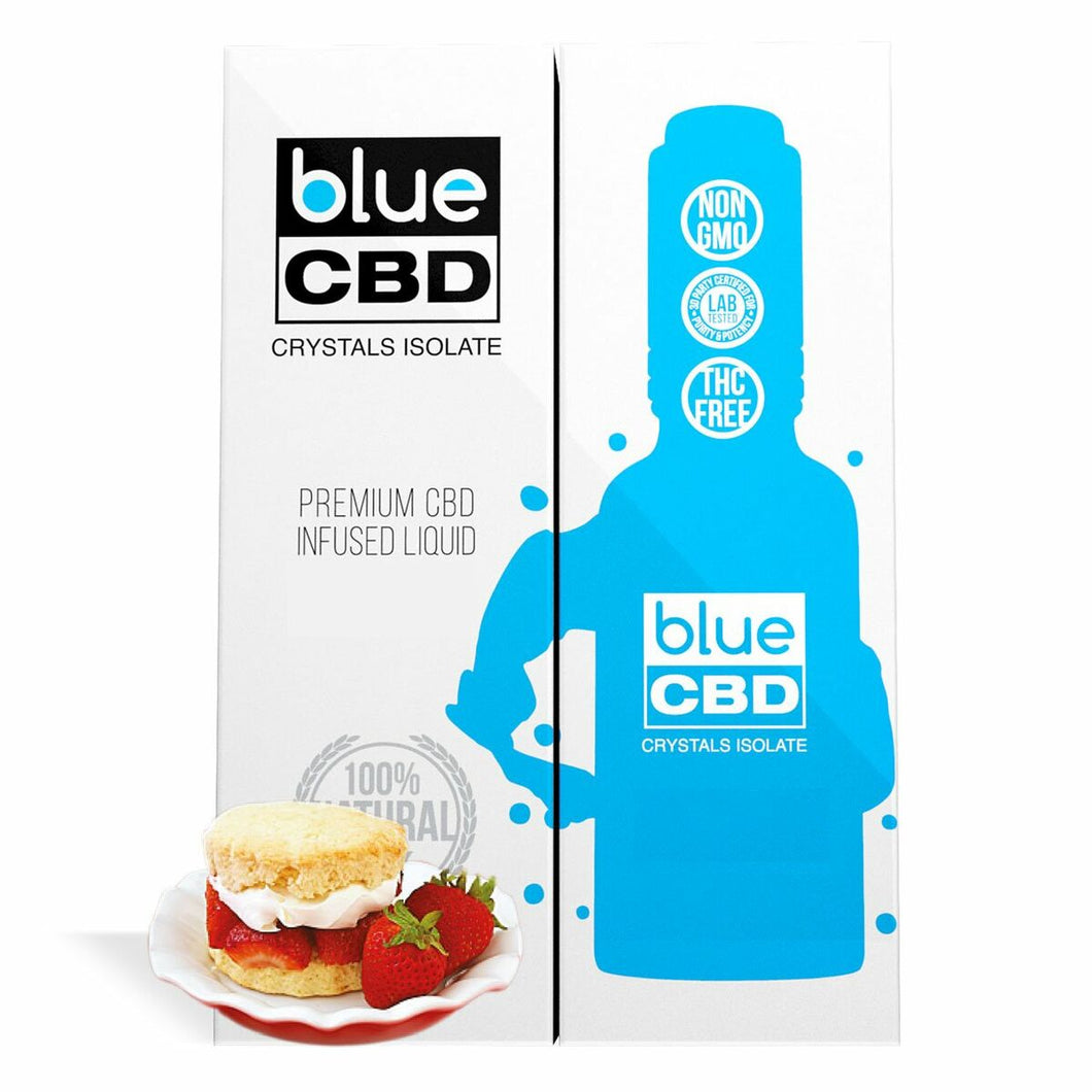 Blue CBD - Tincture Crystal Isolate Oil Strawberry Shortcake Flavor 30ml