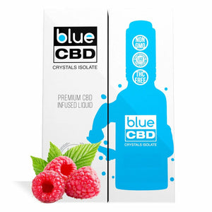 Blue CBD - Tincture Crystal Isolate Oil Sweet Raspberry Flavor 30ml