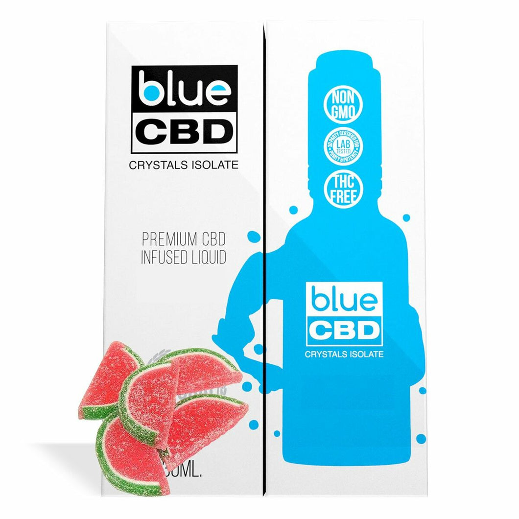 Blue CBD - Tincture Crystal Isolate Oil Watermelon Slices Flavor 30ml