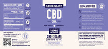 Load image into Gallery viewer, CBDistillery - CBD Oil Isolate Tincture 5000mg