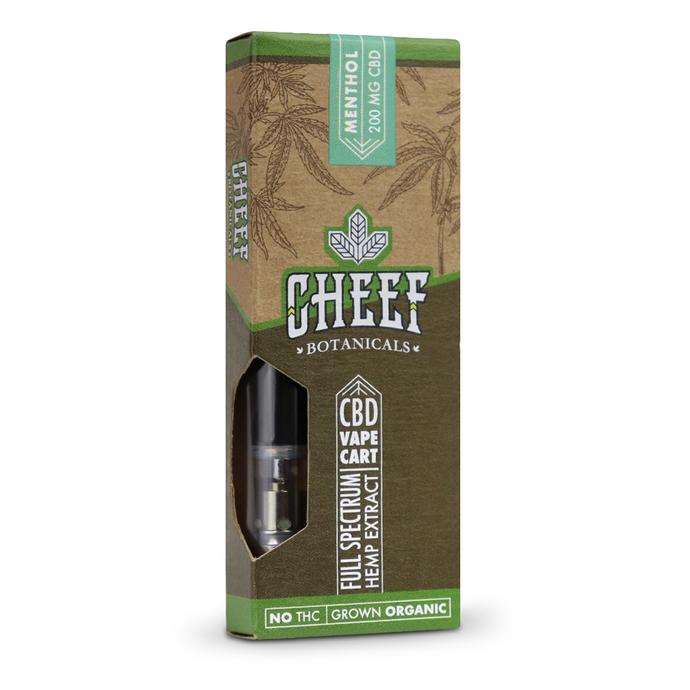 Cheef Botanicals - CBD Cartridges Menthol – 200mg