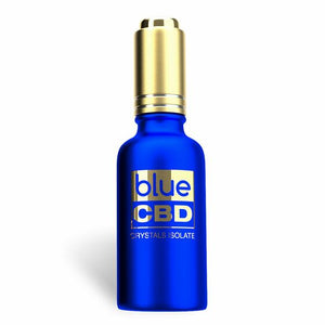 Blue CBD - Tincture Crystal Isolate Oil English Toffee Flavor 30ml