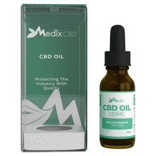 Load image into Gallery viewer, Medix CBD - Oil Tincture Natural Flavor 250mg
