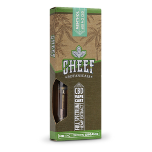 Cheef Botanicals - CBD Cartridges Menthol – 400mg