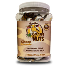 Load image into Gallery viewer, Giraffe Nuts - CBD Edible Chocolate Truffle Balls Choco Caramelo 50 Count