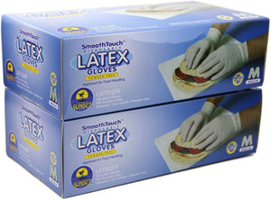 Smooth Touch Latex Gloves 100ct Per Box (All Sizes Available)