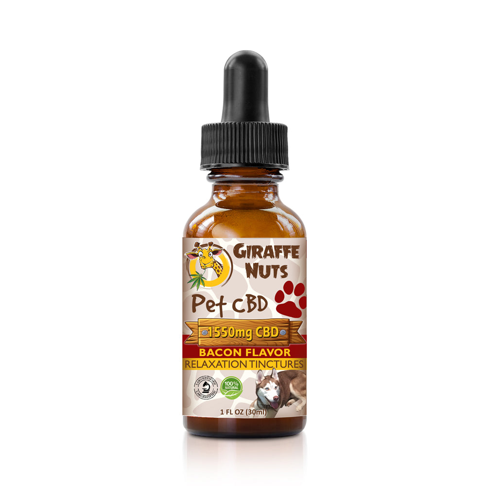 Giraffe Nuts - CBD Pet Oil Tinctures Bacon Flavor 30ml