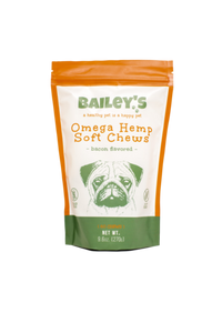 Bailey's - CBD Pet Omega Soft Chews Bacon Flavored 60 Count